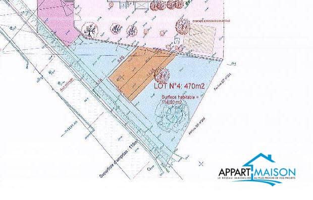 Terrain contructible de 470m2 à 240000 €