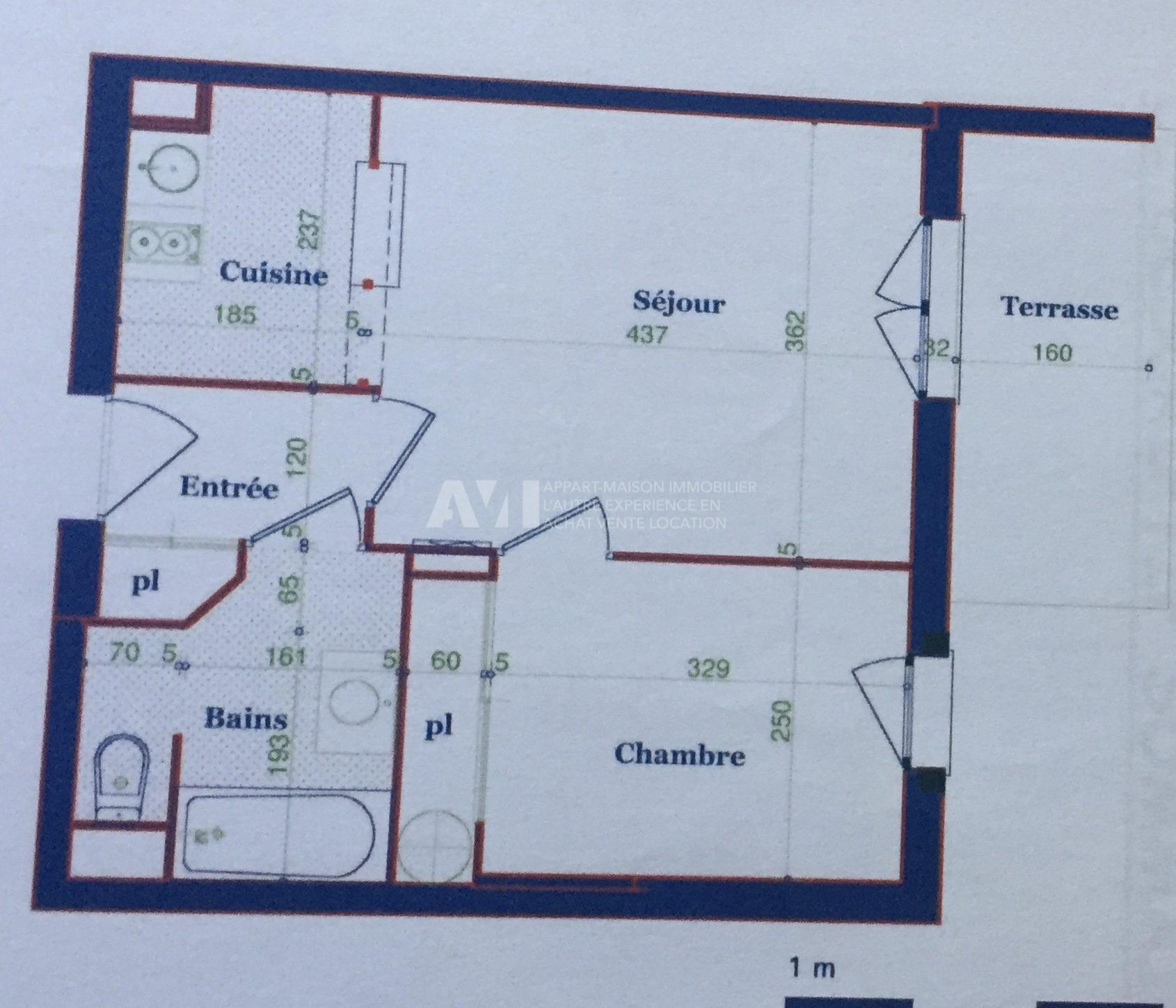 Appartement T2 de 38M2 à 79000 €